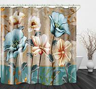 abordables -rideaux de douche de salle de bain&ampli; crochets arc-en-ciel néoclassique polyester étanche