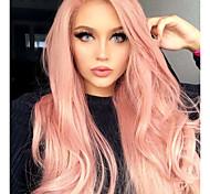 abordables -Perruque Synthétique Mat Ondulation naturelle Coupe Asymétrique Perruque Longue Rose + Rouge Violet brillant Cheveux Synthétiques 26 pouce Femme Soirée Adorable Au Milieu Rose Violet