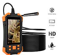 abordables -Caméra d'endoscope numérique 2m 5.5mm 1080p HD 4.3 pouces LCD 4cm-5m Distance focale Caméra serpent Caméra d'inspection vidéo 3000mAh avec 6 LED