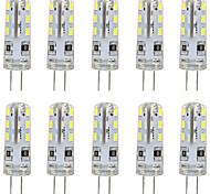 abordables -10pcs G4 ampoule à LED base à deux broches lampe spot 3014 smd 24 leds 20w ampoule halogène équivalente 1.5w pour maison 360 degrés blanc blanc chaud