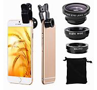 economico -Obiettivo del telefono cellulare Obiettivo Fish-Eye / Grandangolo / Obiettivo macro Acrilico / Plastica Macro 10X 25 mm 0.02 m 180 ° Fantastico