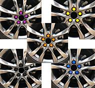 abordables -20 pcs 19mm voiture capuchons de roue boulons couvre écrous silicone auto moyeu de roue protecteurs bouchon à vis style anti rouille couverture