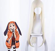 economico -Kakegurui Parrucche Cosplay Per donna Frangetta dritta 35 pollice Tessuno resistente a calore Kinky liscia Bianco Per adulto Parrucca Anime