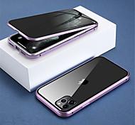 economico -telefono Custodia Per Apple Integrale Custodia ad adsorbimento magnetico iPhone 12 Pro Max 11 Pro Max Traslucido Doppia setola Anti peep Tinta unita Vetro temperato Metallo