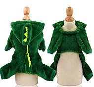 economico -Cane Costumi Vestiti del cucciolo Animali Cosplay Inverno Abbigliamento per cani Vestiti del cucciolo Abiti per cani Tenere al caldo Rosa Verde Costume per ragazza e ragazzo cane Cotone XS S M L XL