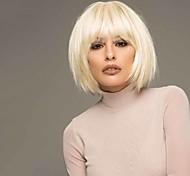 abordables -Perruque Synthétique Droit Bob Coupe Carré Perruque Court Blond Cheveux Synthétiques 6 pouce Femme Design à la mode Faciliter l'habillage Sexy dame Blond