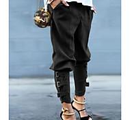 economico -Per donna Essenziale Carico tattico Pantaloni Tinta unita Nero Verde militare