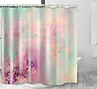 abordables -Rideau de douche en tissu imperméable imprimé numérique espace brumeux coloré pour salle de bain décor à la maison couvert de rideaux de baignoire comprend des crochets