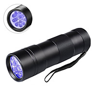 abordables -UV MeterMall Flashlight Lampes de poche Lumière Noir 600 lm LED LED 12 Émetteurs 1 Mode d'Eclairage Professionnel Durable Camping / Randonnée / Spéléologie Usage quotidien Pêche Extérieur Violet