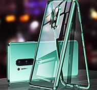 economico -telefono Custodia Per OnePlus Integrale Custodia ad adsorbimento magnetico OnePlus 8 Pro OnePlus 8 Traslucido Doppia setola Protezione per obiettivo della fotocamera Tinta unita Vetro temperato