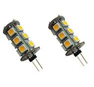 economico -2 pezzi 2 W Luci LED Bi-pin 200 lm G4 18 Perline LED SMD 5050 Bianco caldo Bianco 12 V
