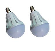 economico -2 pezzi 5 W Lampadine globo LED 300 lm E14 E26 / E27 10 Perline LED SMD 5730 Bianco caldo Bianco 220-240 V