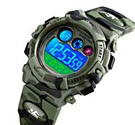 economico -SKMEI Da ragazzo Orologio sportivo Digitale Digitale Di tendenza Resistente all'acqua Allarme sveglia Luce LED / Silicone