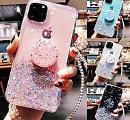 economico -telefono Custodia Per Apple Per retro iPhone 12 Pro Max 11 SE 2020 X XR XS Max 8 7 6 Supporto ad anello Traslucido Glitterato Glitterato TPU