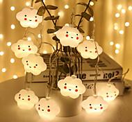 economico -1.5m Fili luminosi 10 LED Bianco caldo Natale Capodanno Romantico Decorativo Vacanze Batterie AA alimentate