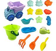 abordables -Jouets de plage Ensemble de jouets de sable de plage Jouets aquatiques 16 pcs Plastique souple Thème plage Pour Enfant Garçon Fille