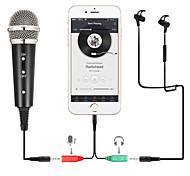 economico -microfono a condensatore per registrazione microfono per telefono cellulare 3.5mm jack microfone per computer pc karaoke mic per iphone android