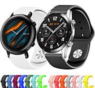 abordables -Bracelet de montre connectée pour Huawei 1 pcs Bracelet Sport Silicone Remplacement Sangle de Poignet pour Montre Huawei GT Honneur à la magie Huawei Watch GT Active Montre Huawei GT2 46mm Montre