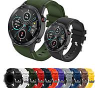 abordables -1 pièces Bracelet de Montre  pour Huawei Bande de sport Boucle Classique Silikon Sangle de Poignet pour Montre Huawei GT Watch 2 Pro Honneur à la magie Huawei Watch GT Active Montre Huawei GT2 46mm