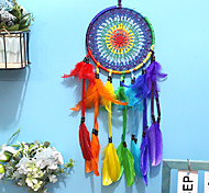 economico -boho dream catcher regalo fatto a mano appeso a parete arredamento arte ornamento artigianato piuma 55 * 16 cm per bambini camera da letto festival di nozze
