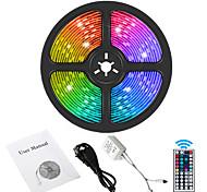 economico -5m Strisce luminose LED flessibili Strisce luminose RGB 300 LED SMD5050 1 telecomando da 44Keys 1 X 12V 5A Alimentazione 1 set RGB + Bianco Impermeabile Feste Decorativo 120-240 V / IP65