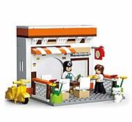 abordables -Blocs de Construction Jouet Educatif 134 pcs Dessin animé Restaurant compatible Carcasse de plastique Legoing Exquis Fait à la main Jouets de décompression Bricolage Garçons et filles Jouet Cadeau