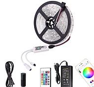 economico -ZDM® 5m Set luci Strisce luminose RGB 60 LED SMD5050 10mm 1 telecomando da 24Keys 1 cavo CA. 1 X 12V 3A Alimentazione 1 set Colori primari Controllo APP Accorciabile Auto-adesivo 12 V