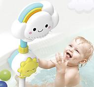 abordables -multi-directionnel bébé arc-en-ciel douche enfants enfants bain nuage fleur pulvérisation eau douche tête baignoire robinet salle de bain drôle jouets