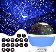 economico -Luci notturne per bambini e ragazzi MOON Stella Luce con cielo stellato Illuminazione LED Rotazione a 360° Luminoso 6 V USB Batterie alimentate Per bambini Adulto per regali di compleanno e bomboniere