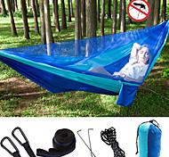 abordables -Hamac de camping avec moustiquaire Hamac double Extérieur Nylon Parachute Portable Respirable Anti-Moustique Ultra léger (UL) Pliable avec mousquetons et sangles pour Chasse Pêche Randonnée 2 personne