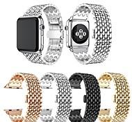 economico -Cinturino intelligente per Apple  iWatch 1 pcs Stile dei gioielli Banda di affari Acciaio inossidabile Sostituzione Custodia con cinturino a strappo per Apple Watch Serie 5 Apple Watch Serie SE