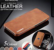 abordables -téléphone Coque Pour Huawei Coque Intégrale Étui en cuir Wallet HUAWEI P40 Pro Huawei P20 Pro Huawei P30 Pro Portefeuille Porte Carte Clapet Couleur Pleine faux cuir PC