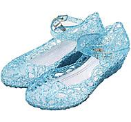 abordables -Princesse Cinderella Elsa Reine des Neiges Bal Masqué Chaussures de gelée Fille Cosplay de Film Plate Cosplay Mary Jane Blanche Violet Rouge Chaussures Carnaval Mascarade PVC