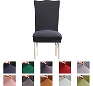 abordables -Housse de chaise Couleur Pleine Teinture Polyester Literie
