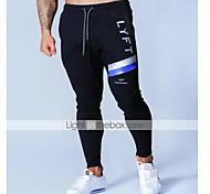abordables -Homme Taille haute Joggings Pantalons de Jogging Pantalon de Survêtement Sport & Loisir Vêtements de sport Bas Cordon Coton Hiver Fonctionnement Marche Le jogging Entraînement Evacuation de