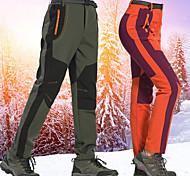 abordables -Femme Pantalons de Randonnée Pantalons Softshell Mosaïque Hiver Extérieur Chaud Poids Léger Coupe Vent Doublure Polaire Coquille Souple Pantalons / Surpantalons Bas Violet Vert Véronèse Orange