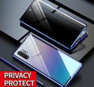 economico -telefono Custodia Per Samsung Galaxy Integrale Custodia ad adsorbimento magnetico S20 A50 A70 Traslucido Doppia setola Anti peep Tinta unita Vetro temperato Metallo