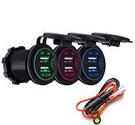 abordables -P8-s interrupteur tactile avec cordon d'alimentation 3.1a double usb voiture motorisé modifié chargeur téléphone 12-24v