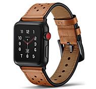 economico -Cinturino intelligente per Apple  iWatch 1 pcs Cinturino di pelle Vera pelle Sostituzione Custodia con cinturino a strappo per Apple Watch Serie 5 Apple Watch Series 4 Apple Watch Serie SE