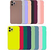 economico -telefono Custodia Per Apple Per retro iPhone 11 Pro Max SE 2020 X XR XS Max 8 7 6 Ultra sottile Effetto ghiaccio Tinta unica TPU