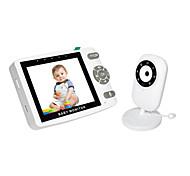 abordables -Moniteur vidéo bébé de 3,5 pouces avec caméra et audio - Vision nocturne automatique Moniteur de température bidirectionnel Mode Vox 8 berceuses Portée de 960 pieds et longue durée de vie de la
