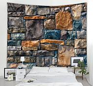 abordables -Vintage 3d tapisserie murale art décor couverture rideau pique-nique nappe suspendu maison chambre salon dortoir décoration brique pierre