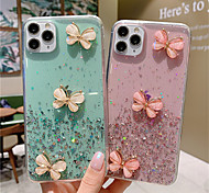 economico -telefono Custodia Per Apple Per retro Silicone Custodia in silicone iPhone 11 Pro Max SE 2020 X XR XS Max 8 7 6 Glitterato Farfalla Glitterato TPU Silicone