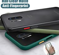 economico -telefono Custodia Per OnePlus Per retro Silicone Custodia in silicone OnePlus 8 Pro OnePlus 8 uno più 7T uno più 7T Pro Resistente agli urti Effetto ghiaccio Tinta unita TPU Silicone PC