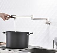 abordables -robinet de cuisine - mélangeurs un trou nickel brossé pot filler centeret contemporain cuisine robinets