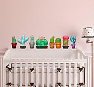 abordables -Cactus stickers muraux avion stickers muraux stickers muraux décoratifs pvc décoration de la maison sticker mural mur / réfrigérateur décoration 1 pc 29 * 29 cm