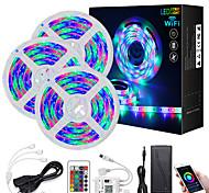economico -ZDM® 3x5m Set luci Strisce luminose RGB 810 LED 2835 SMD 8mm 1 telecomando da 24Keys 1x connettore da 1 a 4 cavi 1 cavi CC 1 set Colori primari Natale Capodanno Impermeabile Controllo APP Accorciabile