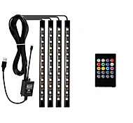 abordables -ZDM® 0.33m Bande lumineuse LED Ruban LED Ensemble de Luminaires 48 LED SMD5050 1Set Support de montage Contrôleur de son de musique à 20 touches 1 set RGB Imperméable USB Design nouveau Alimenté par P