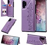 abordables -téléphone Coque Pour Samsung Galaxy Coque Arriere Étui en cuir S20 Plus S20 Ultra S20 S10 S10 + Galaxy S10 E Porte Carte Avec Support faux cuir