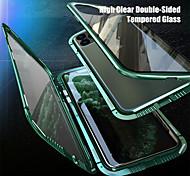 economico -telefono Custodia Per Apple Integrale Custodia ad adsorbimento magnetico iPhone 12 Pro Max 11 SE 2020 X XR XS Max 8 7 6 Traslucido Doppia setola Anti peep Tinta unita Vetro temperato Metallo